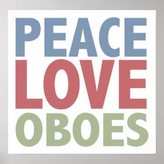 Amor Oboes de la paz Póster