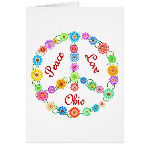 Amor Ohio de la paz Tarjeta De Felicitación