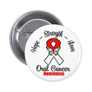 Amor oral de la fuerza de la esperanza del cáncer pin redondo de 2 pulgadas