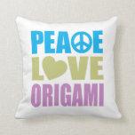 Amor Origami de la paz Almohada