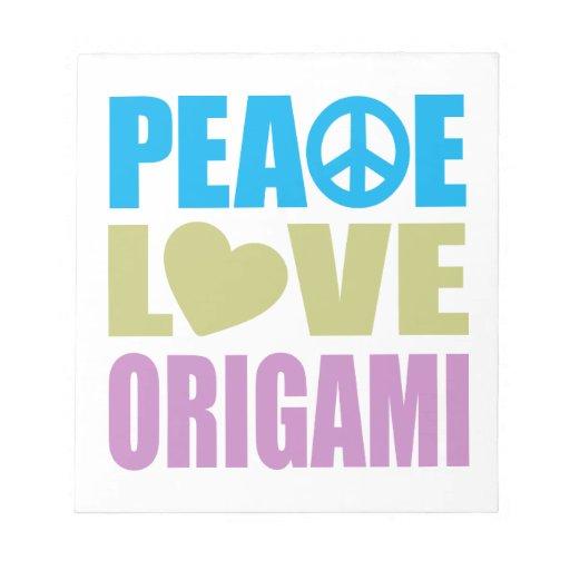 Amor Origami de la paz Blocs De Papel
