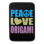 Amor Origami de la paz Fundas MacBook