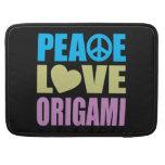 Amor Origami de la paz Fundas Macbook Pro