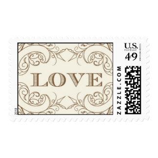 Amor - oro de Ceci Nueva York Timbres Postales