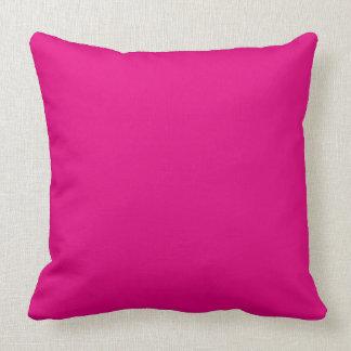 ¡Amor P22 que magenta! Color rosado Cojín Decorativo
