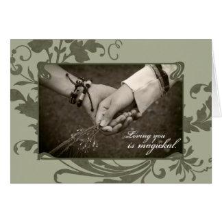 Amor pagano tarjeta de felicitación