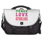 Amor Países Bajos de la paz Bolsas De Ordenador