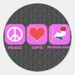 Amor Países Bajos de la paz Pegatina Redonda