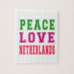 Amor Países Bajos de la paz Puzzles