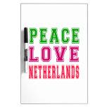 Amor Países Bajos de la paz Tableros Blancos