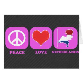 Amor Países Bajos de la paz Felicitacion
