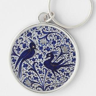 Amor-Pájaros del Azul-Oro del Italiano-Estilo del Llaveros