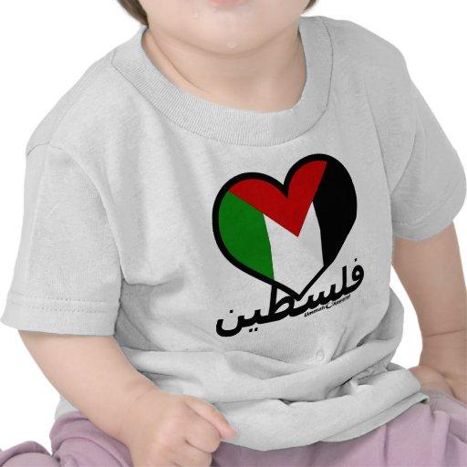 Amor Palestina Camisetas
