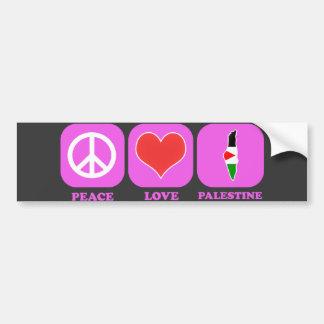 Amor Palestina de la paz Etiqueta De Parachoque