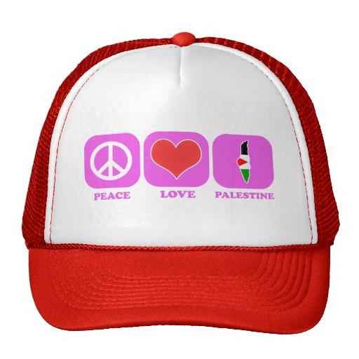 Amor Palestina de la paz Gorros Bordados