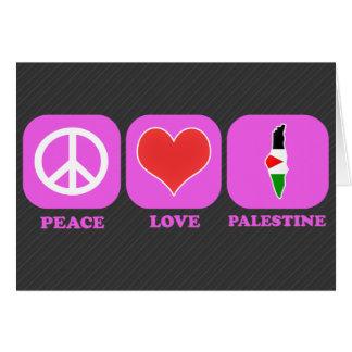 Amor Palestina de la paz Felicitaciones