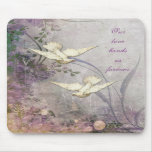 Amor - palomas - - enlace para siempre - boda romá tapete de raton