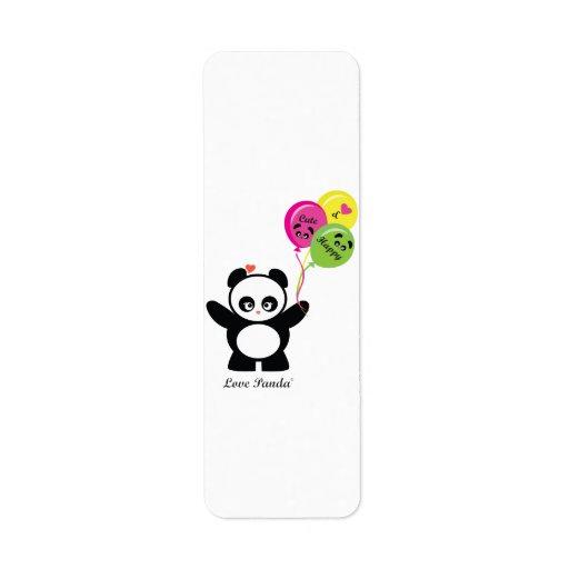 Amor Panda® Etiquetas De Remite