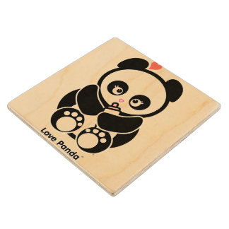 Amor Panda® Posavasos De Madera