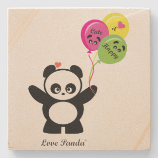 Amor Panda® Posavasos De Piedra