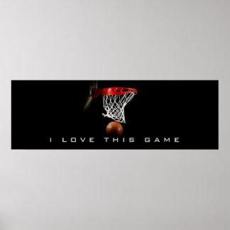 Amor panorámico del poster I del baloncesto este j Póster