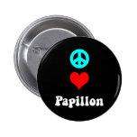 Amor Papillon de la paz Pin Redondo 5 Cm