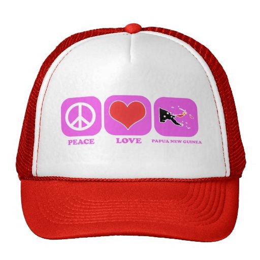 Amor Papúa Nueva Guinea de la paz Gorro De Camionero