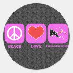 Amor Papúa Nueva Guinea de la paz Pegatina Redonda