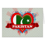 Amor Paquistán del vintage I Tarjeton