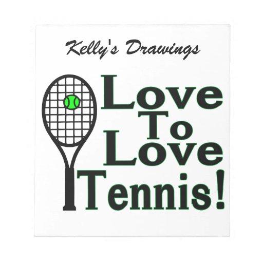 Amor para amar tenis blocs de notas