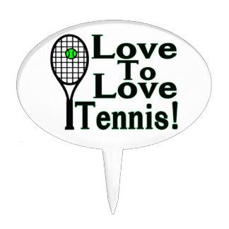Amor para amar tenis figuras de tarta