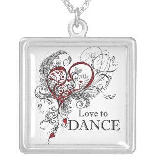 Amor para bailar el collar (blanco)