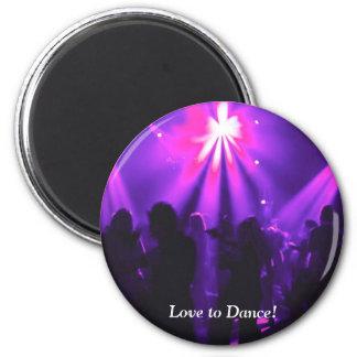 Amor para bailar el imán de w/logo