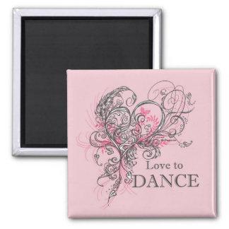 Amor para bailar el imán (personalizable)