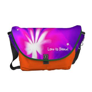 Amor para bailar el logotipo del fiesta de la bolsas messenger
