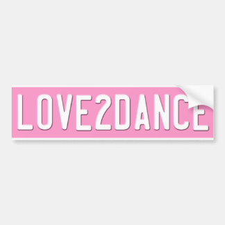 Amor para bailar la placa del rosa de la pegatina  pegatina para auto