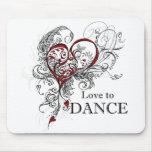 Amor para bailar Mousepad Alfombrilla De Raton