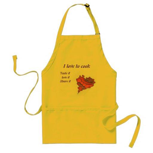 Amor para cocinar el delantal