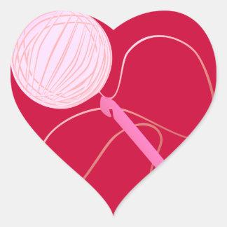 Amor para crochet a los pegatinas del corazón pegatina corazón personalizadas