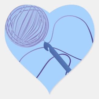 Amor para crochet a los pegatinas del corazón calcomania corazon personalizadas