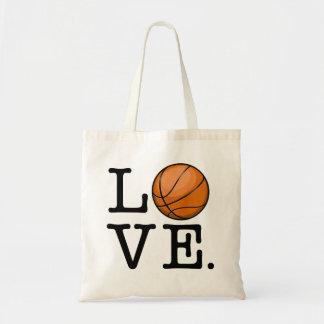 Amor para el baloncesto bolsa tela barata