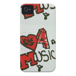 Amor para el caso del iPhone 4/4s de la música Case-Mate iPhone 4 Carcasa