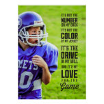 Amor para el poster del juego con su foto