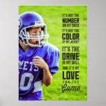 Amor para el poster del juego con su foto póster