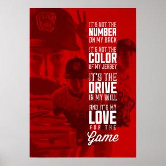 Amor para el poster del juego con su imagen póster