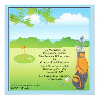 Amor para golf la invitación