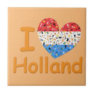Amor para Holanda Azulejo Cuadrado Pequeño
