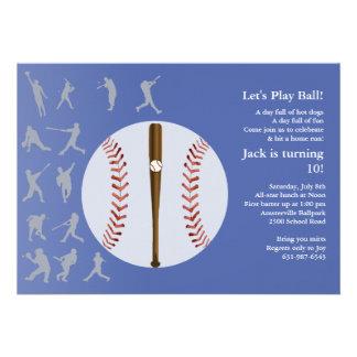 Amor para jugar la invitación del béisbol