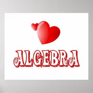 Amor para la álgebra - comenzando en $11,80 póster