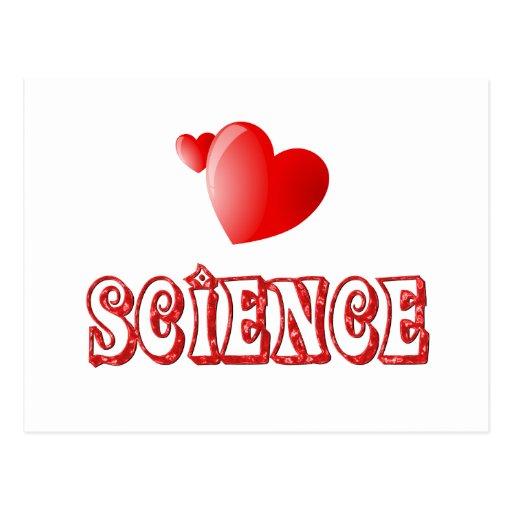 Amor para la ciencia postales